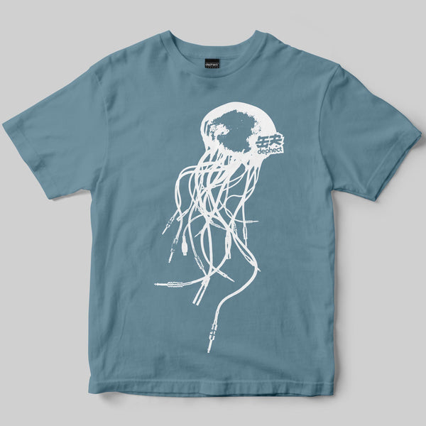 Audiofish T-Shirt / Dusty Blue / by Keshone