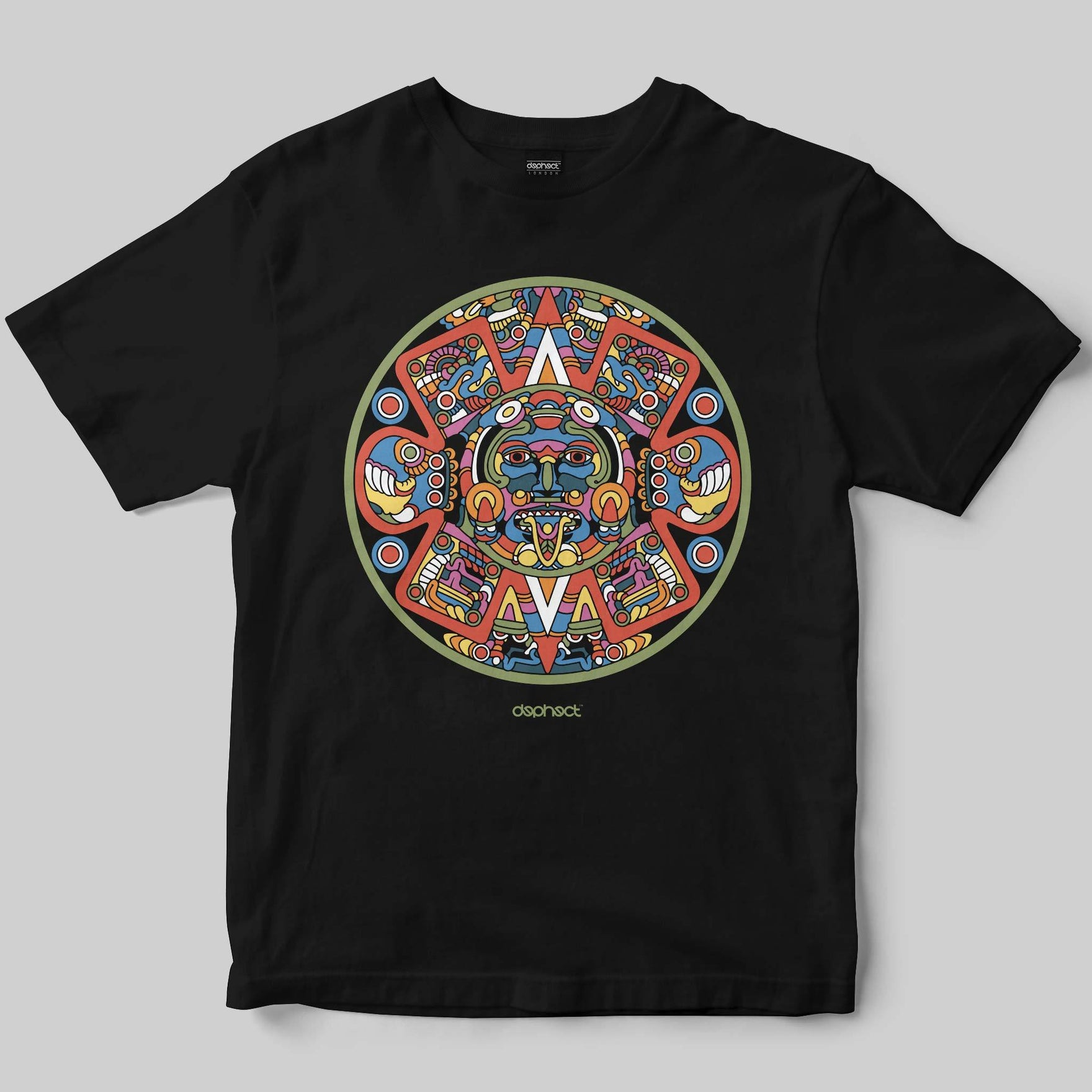 Aztec T-Shirt / Black / by Raul Urias