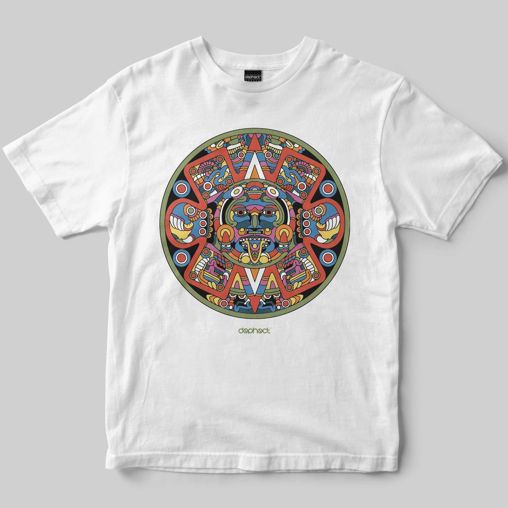 Aztec T-Shirt / White / by Raul Urias