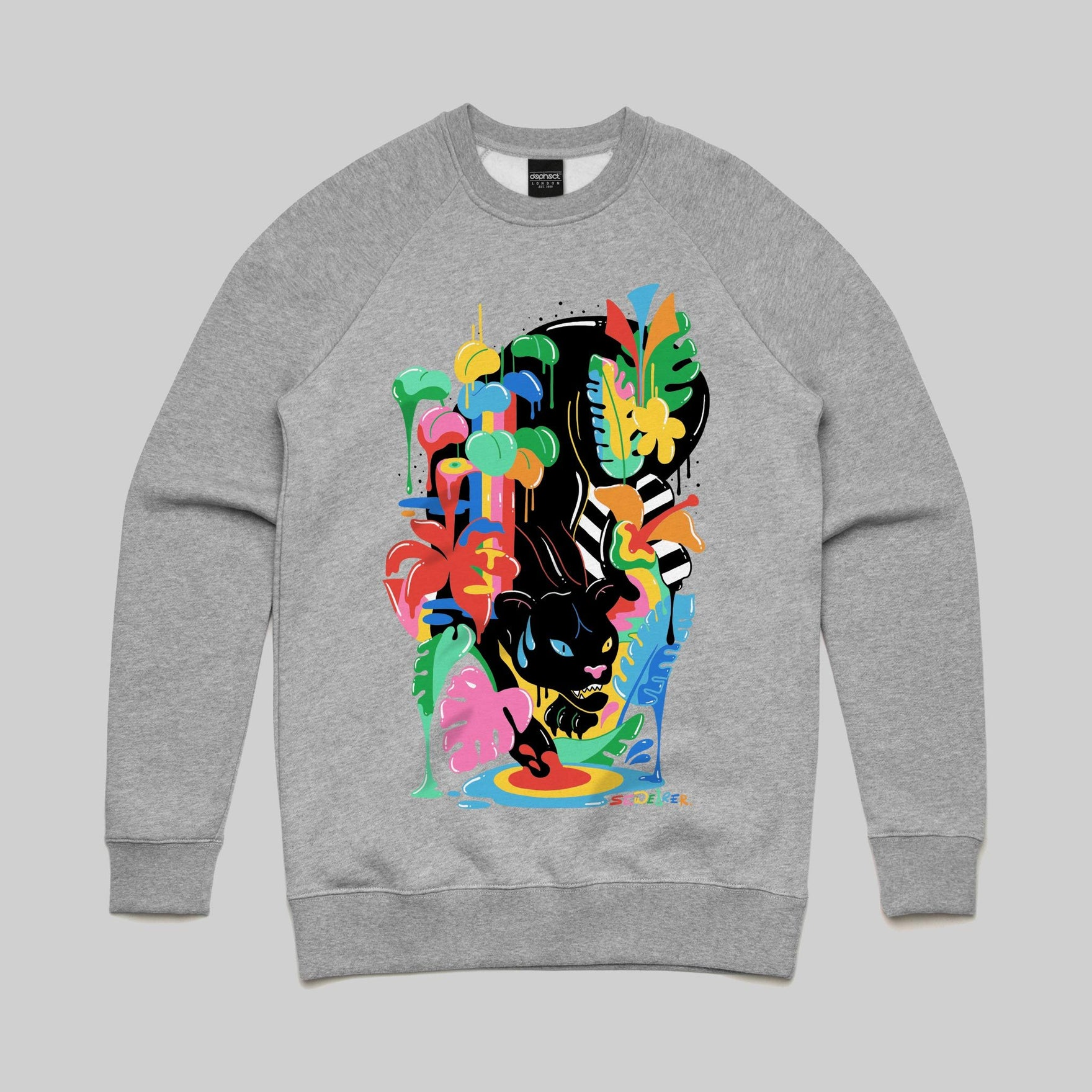 Black Panther Sweatshirt / Athletic Heather / by Sarah Wearer