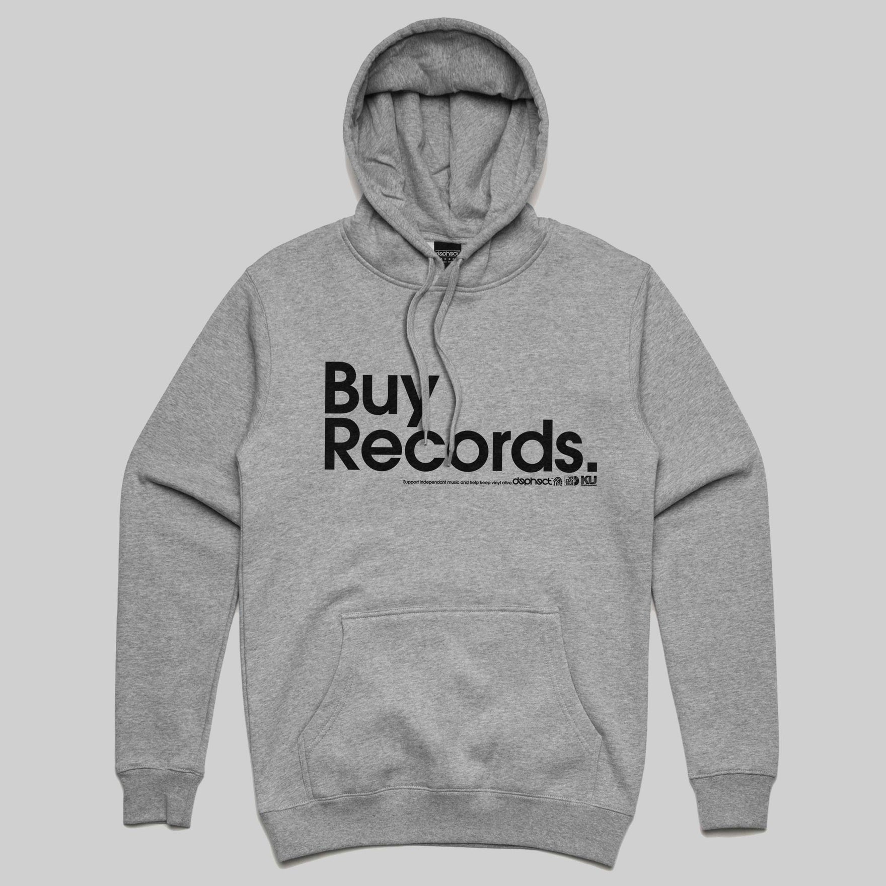 Buy Records Hoody / Light Heather / by Matt Drane