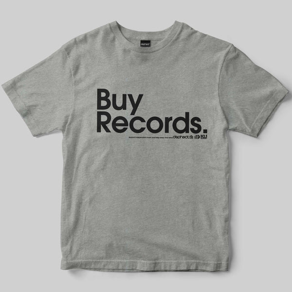 Buy Records T-Shirt / Heather Grey / by Matt Drane