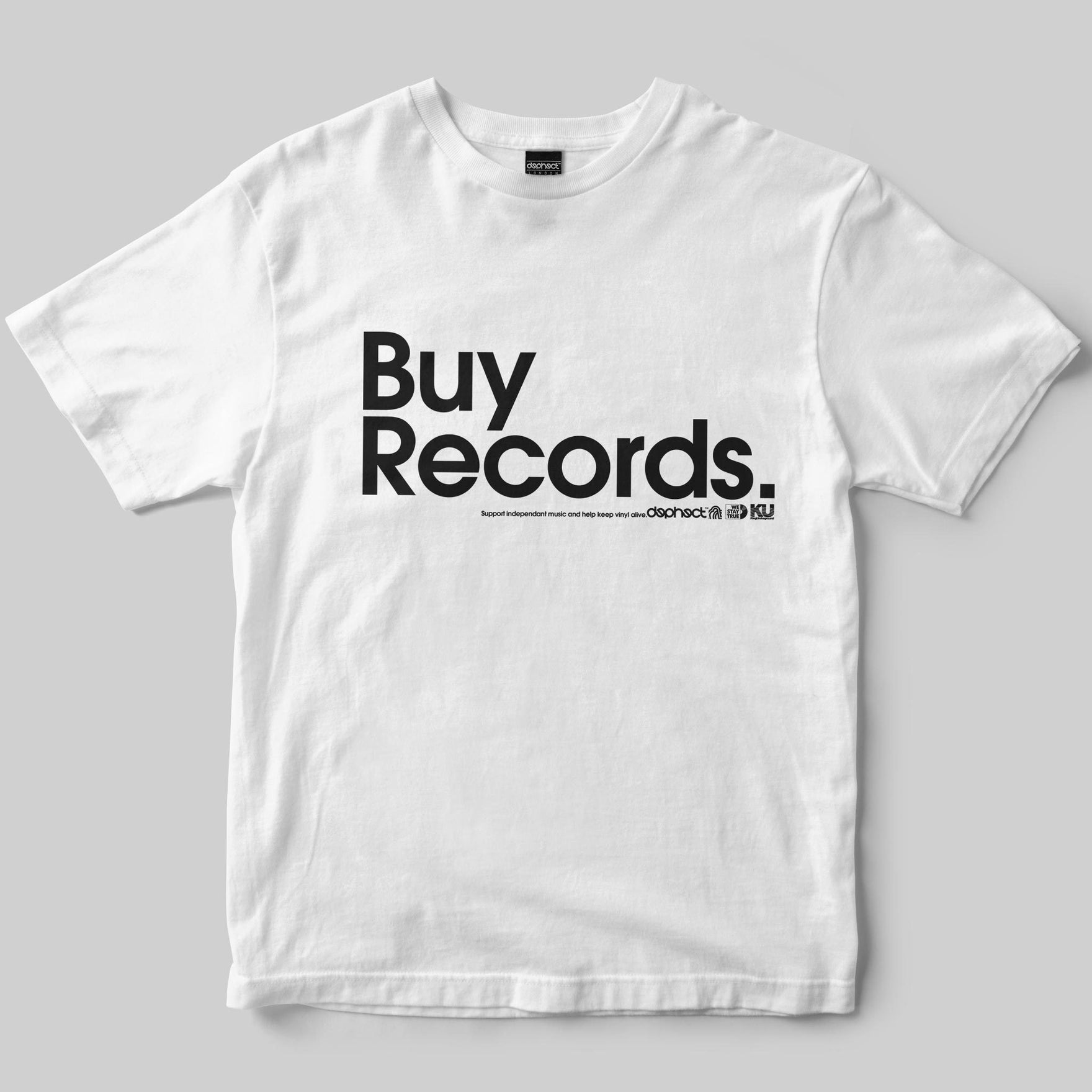 Buy Records T-Shirt / White / by Matt Drane