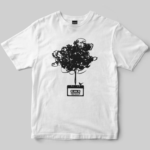 Cassette Tree T-Shirt / White / by Matt Drane