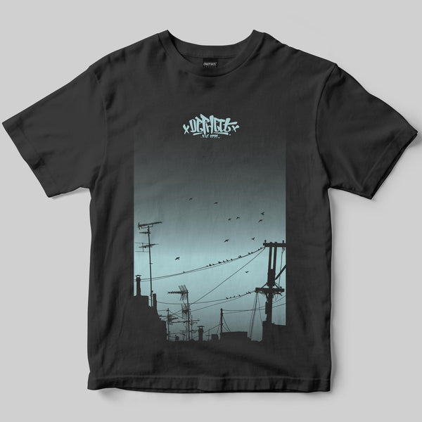Dusk T-Shirt / Charcoal / by Keshone