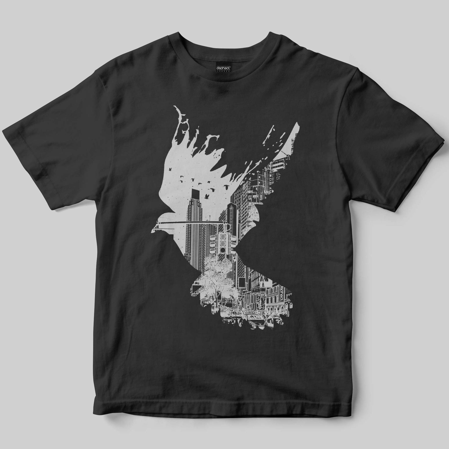 Flight T-Shirt / Charcoal / by Pentasticarts