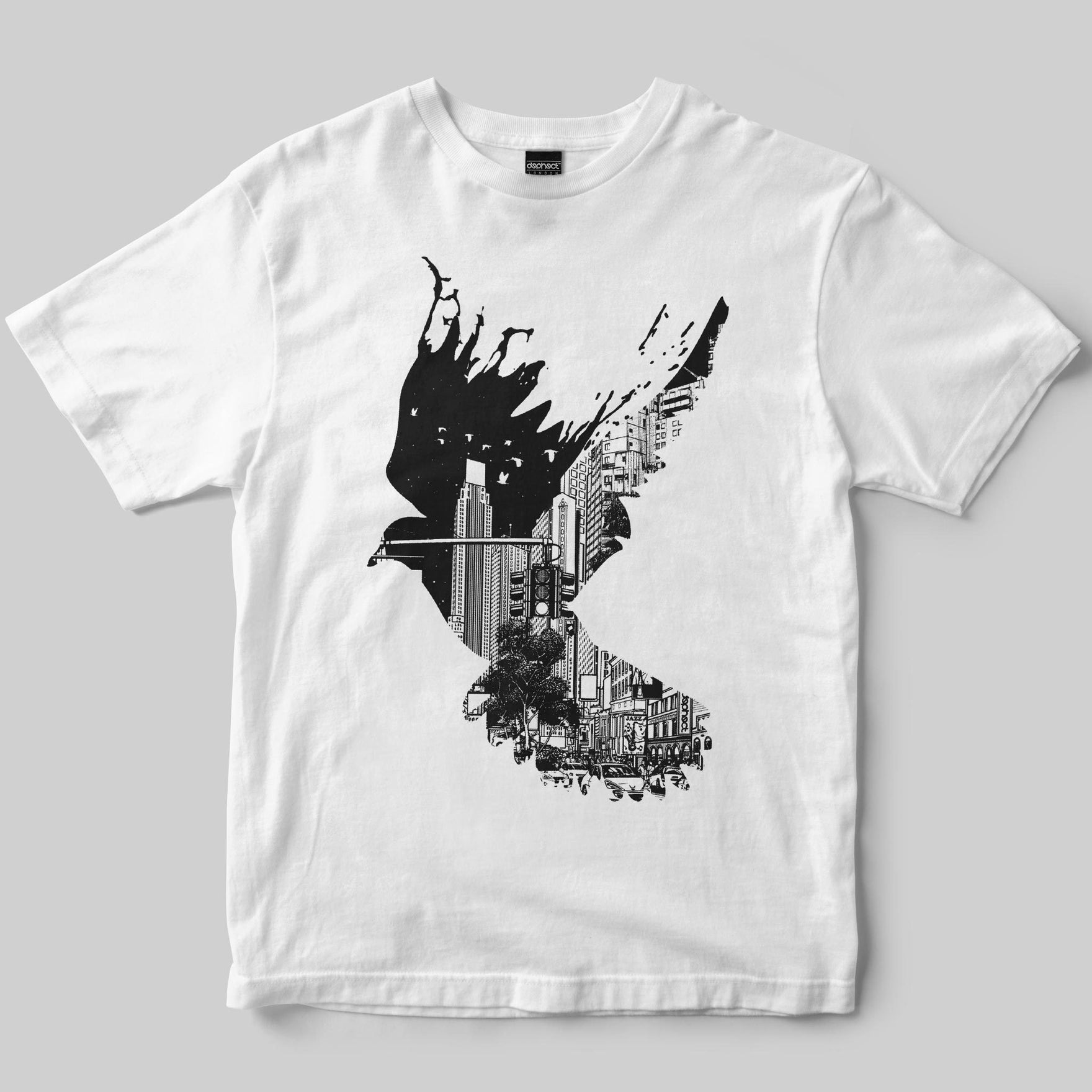 Flight T-Shirt / White / by Pentasticarts