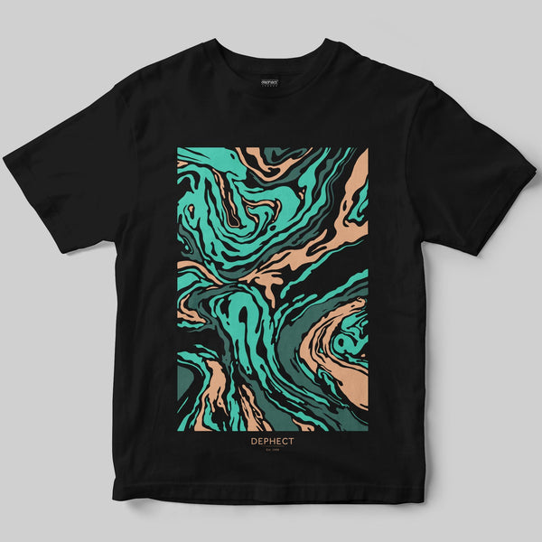 Fluid T-Shirt / Black / by Keshone