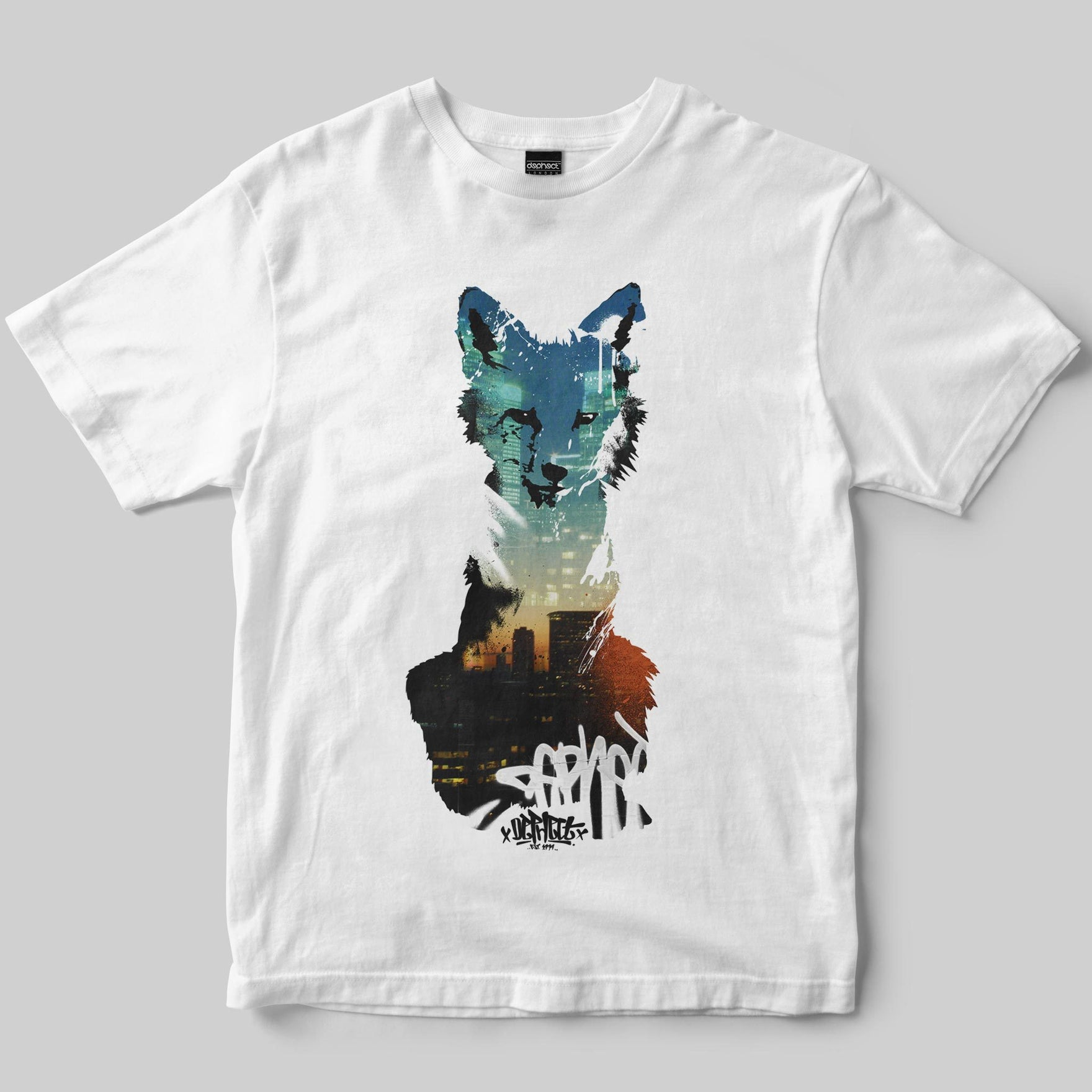 Foxed T-Shirt / White / by Keshone