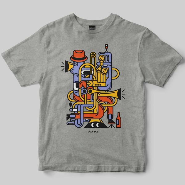 Jazz Man T-Shirt / Heather Grey / by Jari Johannes