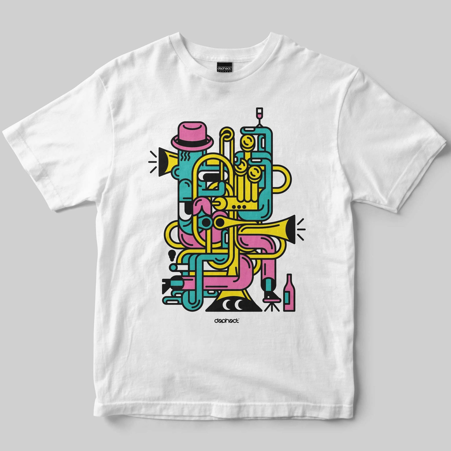 Jazz Man T-Shirt / White / by Jari Johannes