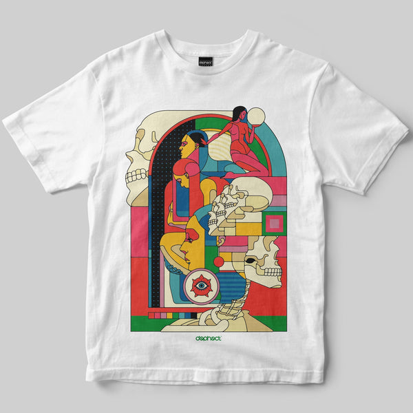 Life & Death T-Shirt / White / by Raul Urias