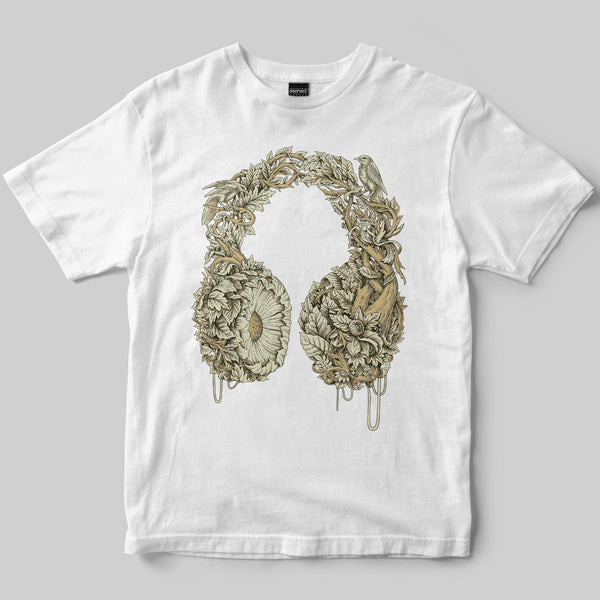 Listen T-Shirt / White / by Iain Macarthur