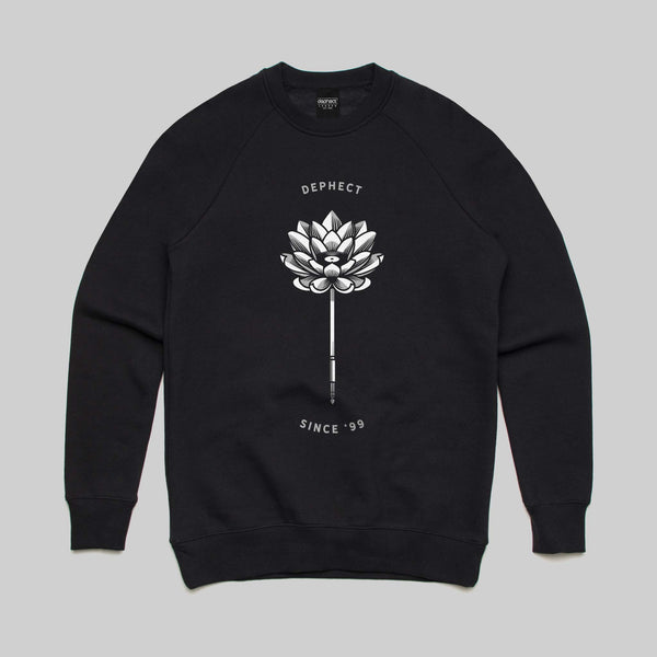 Lotus Sweatshirt / Black / by Heeey!