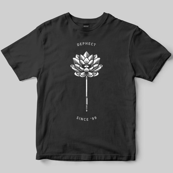 Lotus T-Shirt / Charcoal / by Heeey!