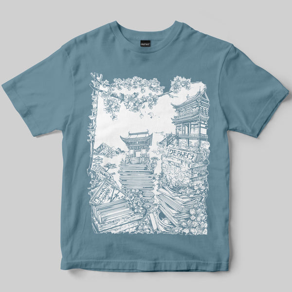 Mystic Beats T-Shirt / Dusty Blue / by Mike Winnard