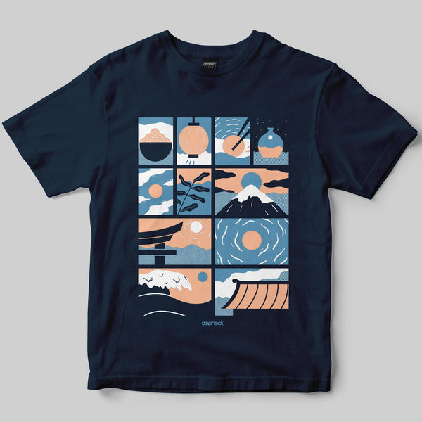 Nippon T-Shirt / Navy / by Miles Tewson