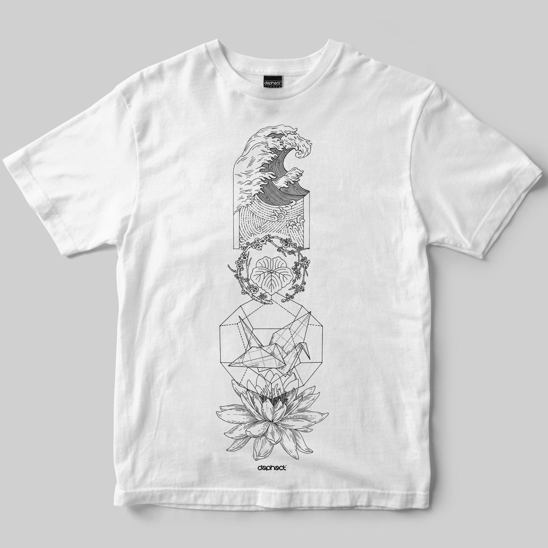 Origami T-Shirt / White / by Poppy Mili
