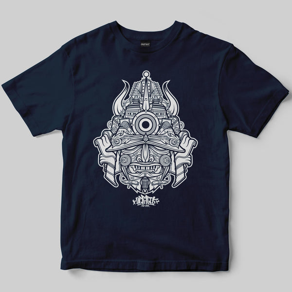 Samurai T-Shirt / Navy / by Garry Milne