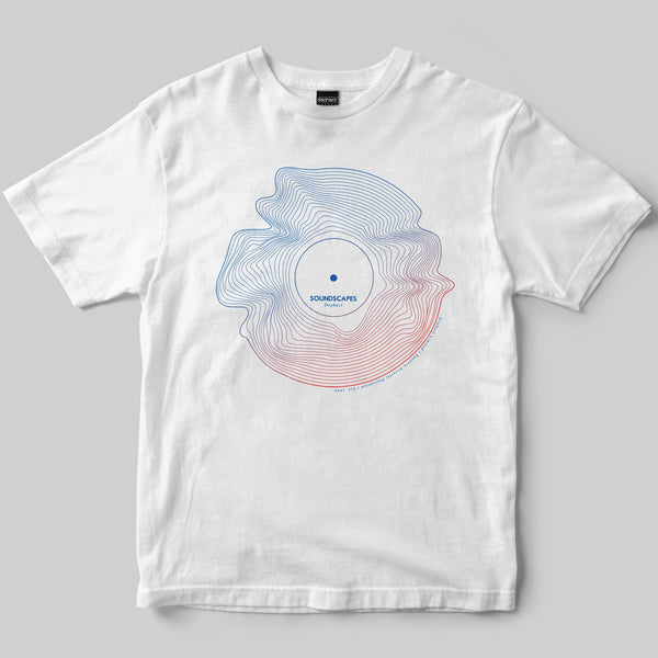 Soundscapes T-Shirt / White / by Keshone