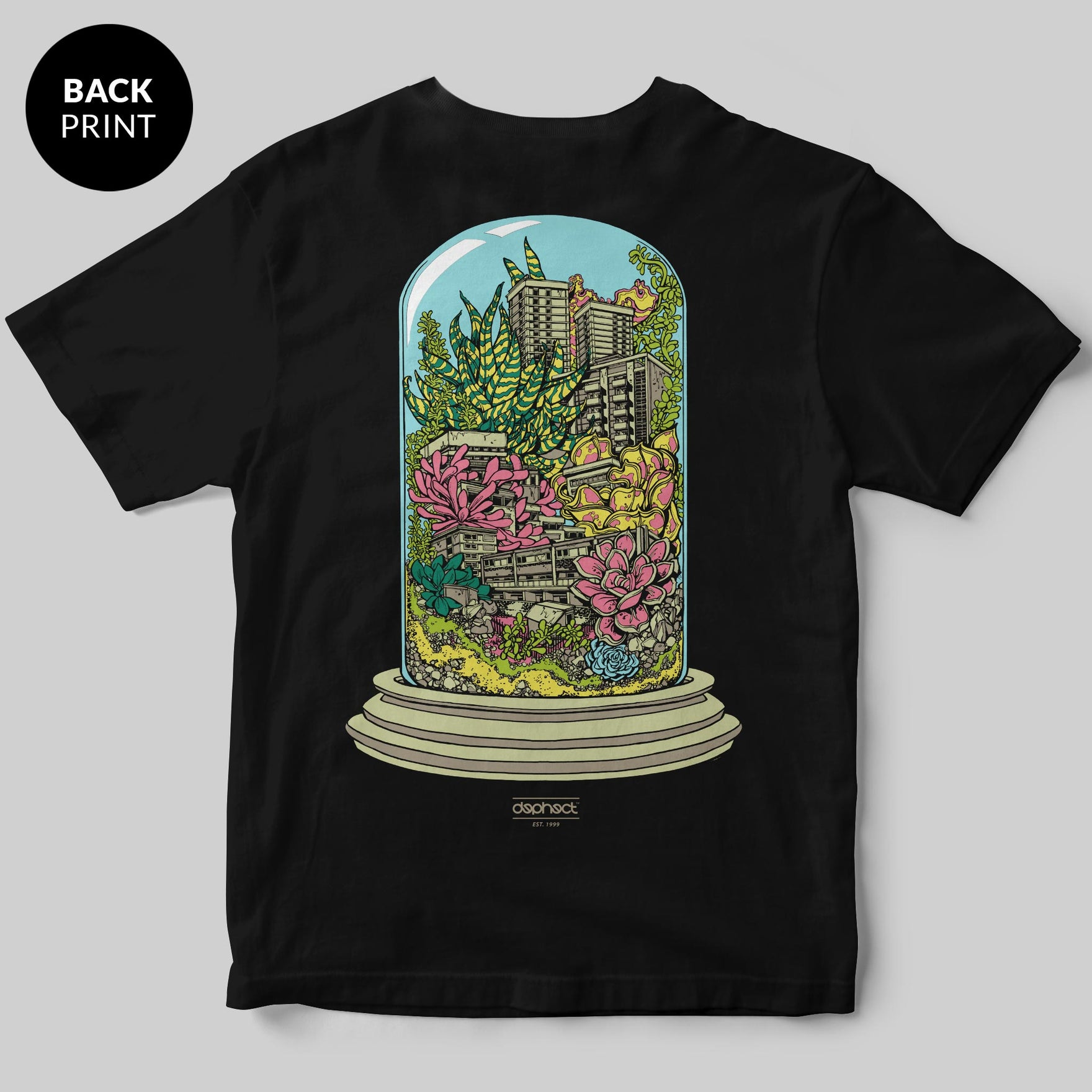 Terrarium T-Shirt / Black / by Mike Winnard