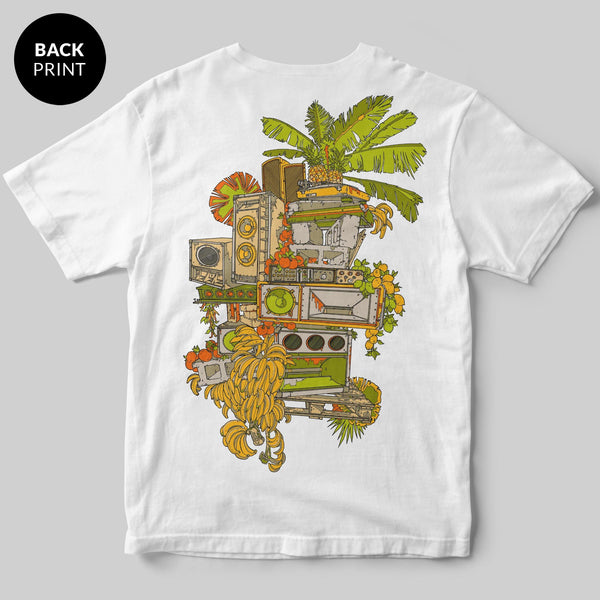 Tropical Beats T-Shirt / White / by Mike Winnard