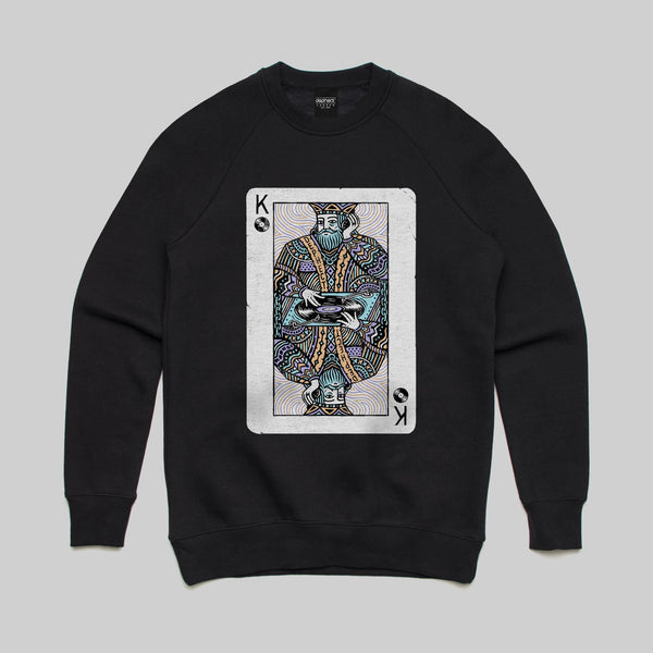 Turntable King sweatshirt / Black / by Pedro Oyarbide