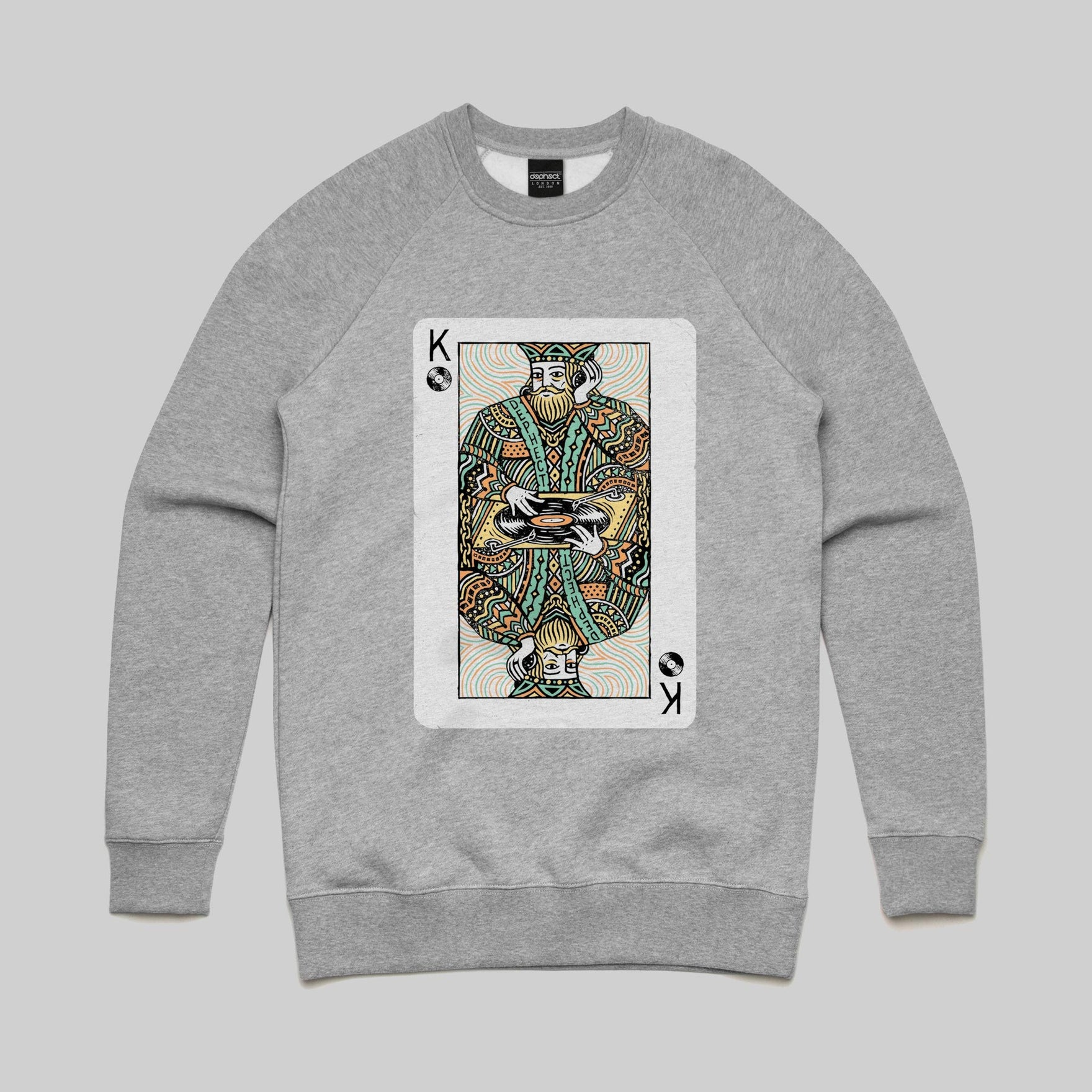 Turntable King Sweatshirt / Athletic Heather / by Pedro Oyarbide