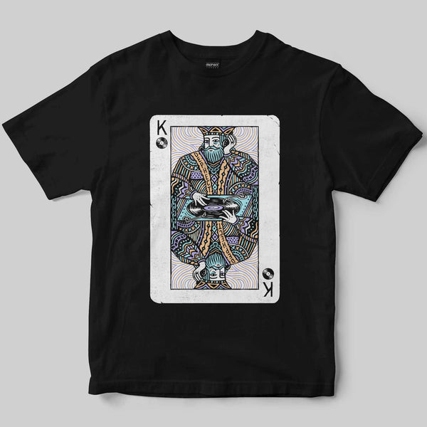 Turntable King T-Shirt / Black / by Pedro Oyarbide