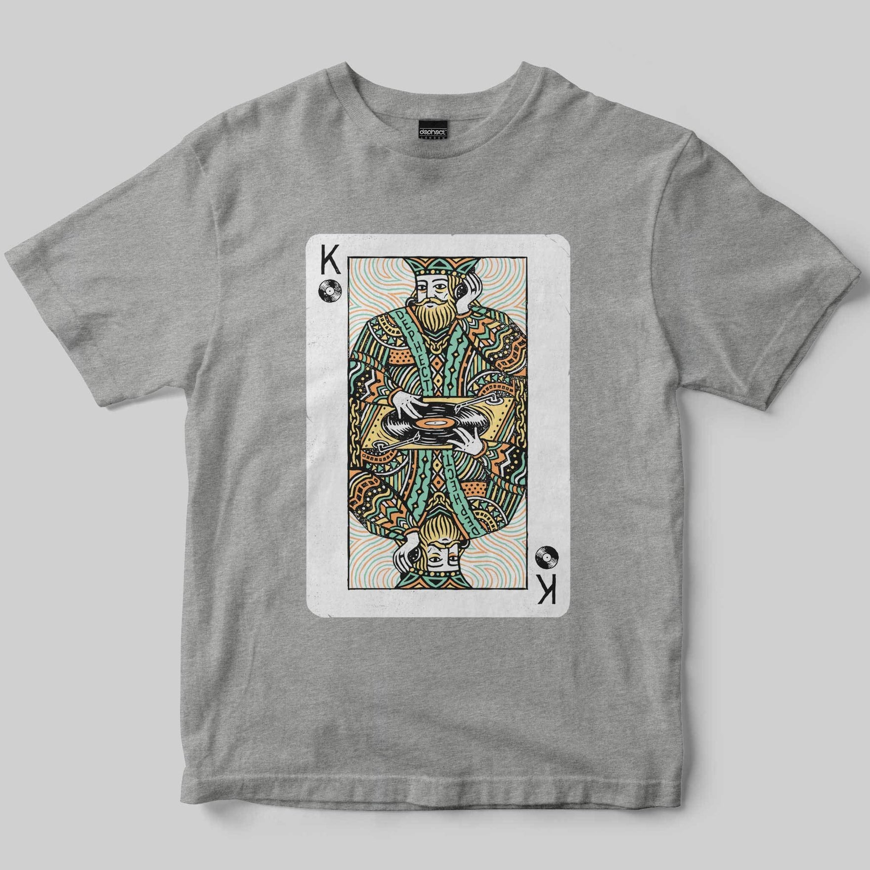 Turntable King T-Shirt / Heather Grey / by Pedro Oyarbide
