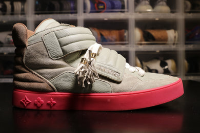 Louis Vuitton Jaspers Kanye Patchwork Grey/Pink | worn | Size 12 | No Box