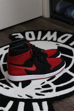 Jordan 1 Retro High Flyknit Bred | Worn | Size 12