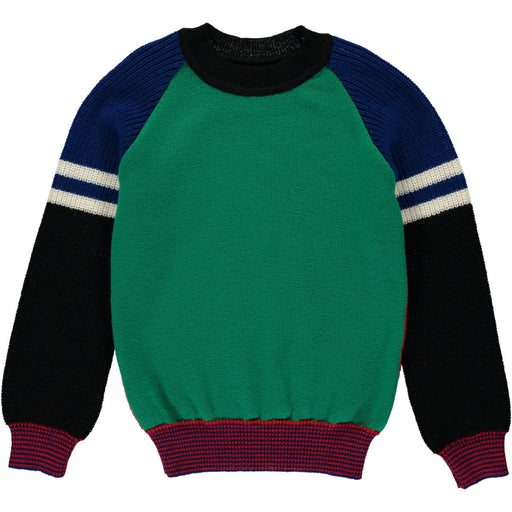 Wonderers Baseball Jumper in Merino Front