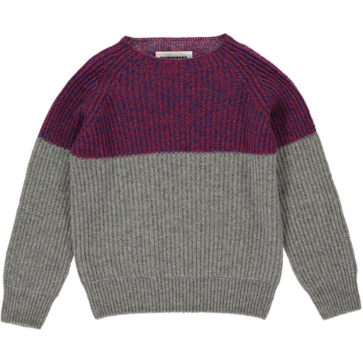 Wonderers Colourblock Jumper in Geelong Lambswool Front