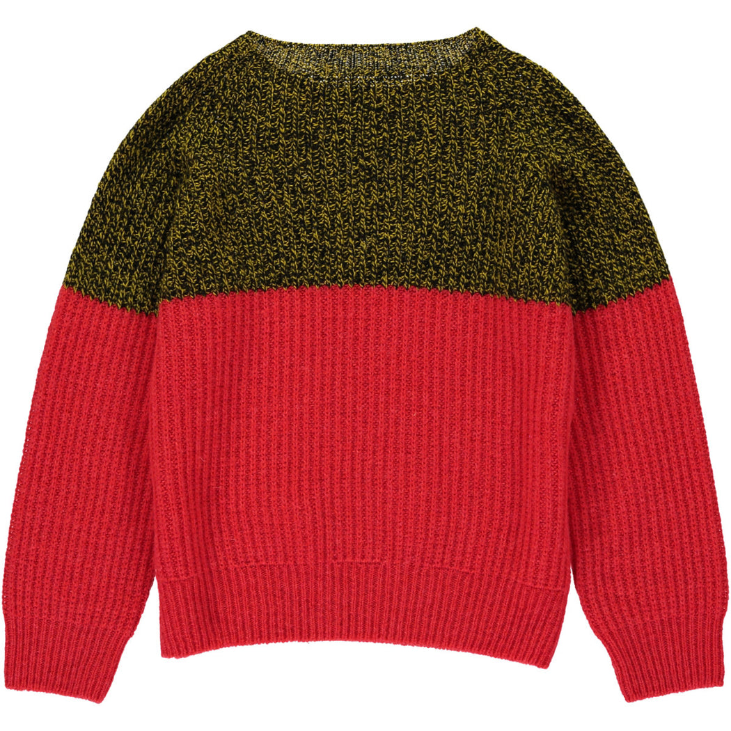 Wonderers Colourblock Jumper in Geelong Lambswool back
