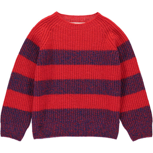 Wonderers Red stripe Jumper in Geelong Lambswool front