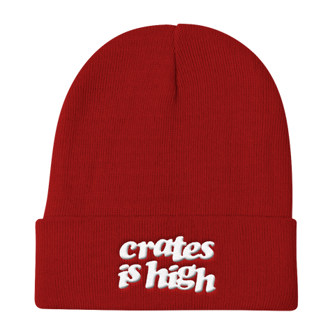 Crates is High Knit Beanie