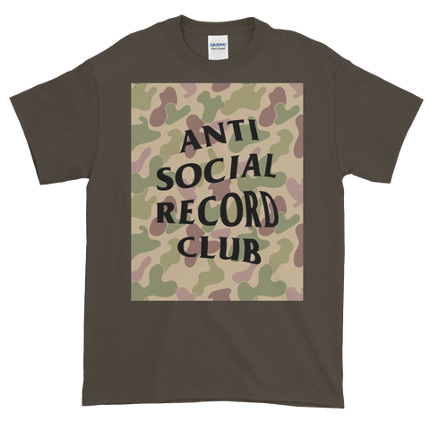 Antisocial Record Club Camo Tee