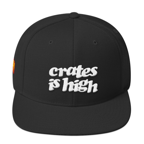 Crates is High Wool Blend Snapback