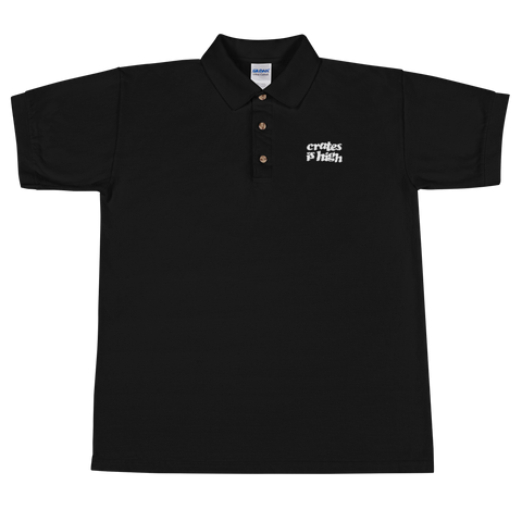 Crate is High Logo Embroidered Polo