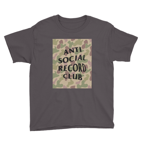 Antisocial Record Club Camo Youth Tee