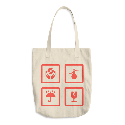 Fragile Records Bull Denim Tote