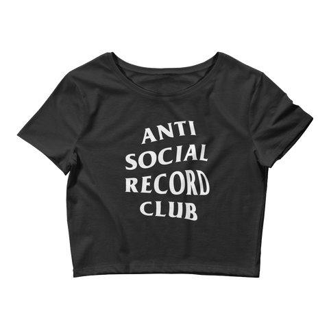 Antisocial Record Club Crop Top