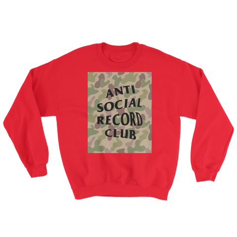 Antisocial Record Club Camo Sweatshirt