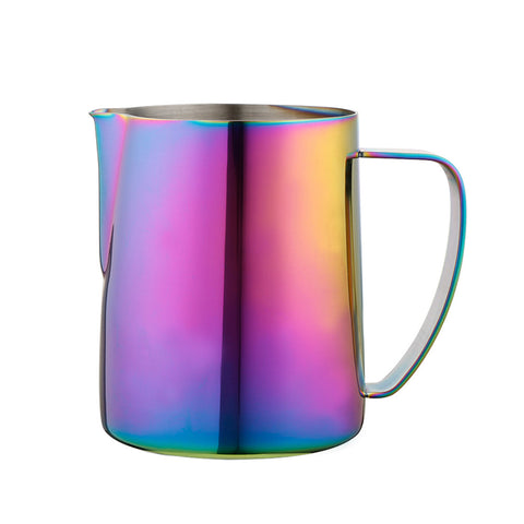 Stainless Steel Colorful Coffee Kettle Coffee Art Milk Bubble Cups