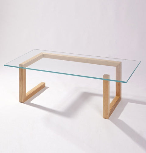 Mia Coffee Table - Glass & Wood