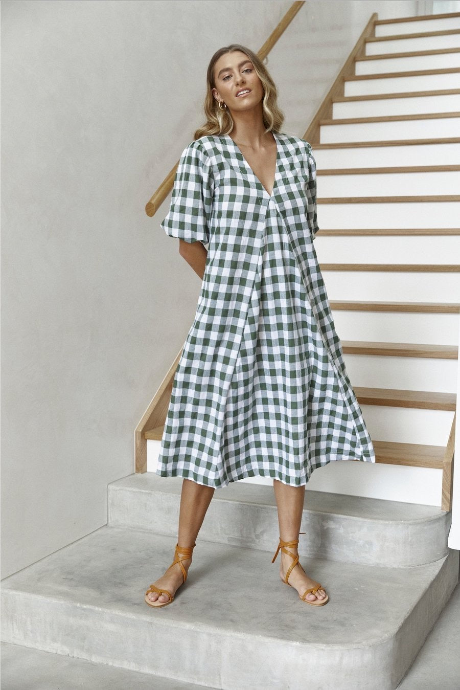 Charlotte Olive check - cotton