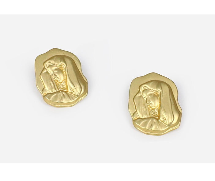 Mary stud earrings  Gold