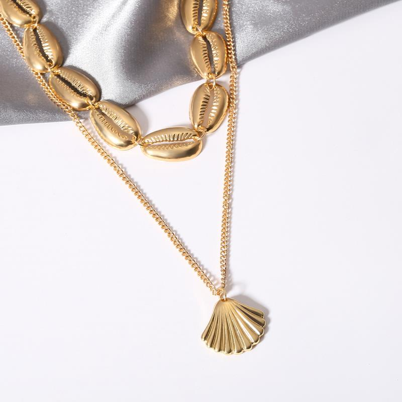 Cowrie Necklace   Gold
