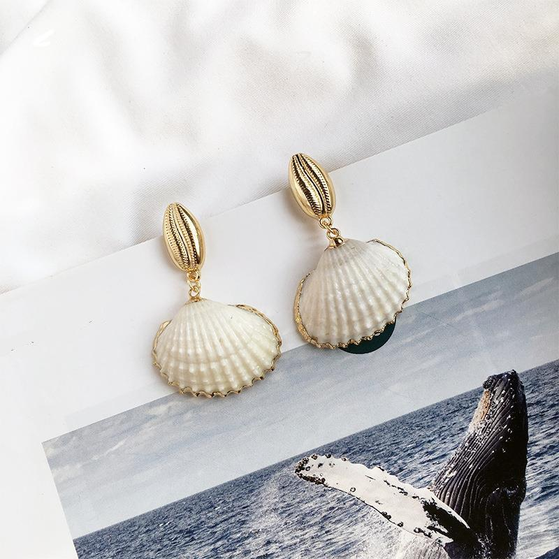 Cockle Cowrie Drop earrings